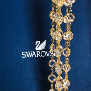** Swarovski Extra long White  Bezel necklace